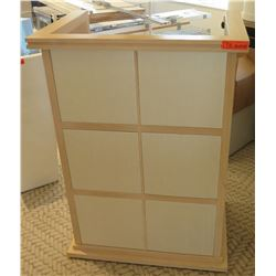 "Wood Podium w/ Lectern & 4 Shelves 21"" x 21"" x 43""H"
