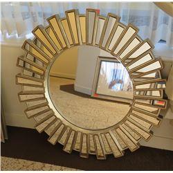 "Decorative Sun Wall-Mount Mirror 39"" Diameter"