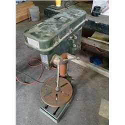 CONTINENTAL INDUSTRIES HEAVY DUTY DRILL PRESS .5 HP, WORKS