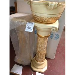 3 PC CAPODIMONTE, 2 PEDESTALS AND 1 URN, VALUED AT APPROX. $450.00