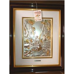 DIFFUSIONE ARTE, IMPORTED ITALIAN GOLD MATTED, WOOD FRAMED / RETAIL $499.00