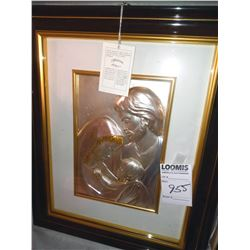 DIFFUSIONE TRI-COLOR 3-D FRAMED ART, DEPICTING HOLY FAMILY / RETAIL $299.00