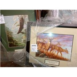 2 ASSORT RELIGIOUS WILDLIFE WOOD FRAME $79.00