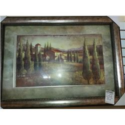 38'' x 28'' SHADOW BOX ART ENGLASSED  WOOD FRAME RETAIL $299.00