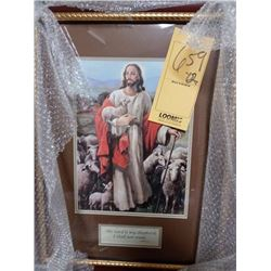 JESUS & CHRISTIAN ART WOOD FRAMED RETAIL $109.00
