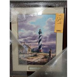 CHRISTIAN LIGHTHOUSE WOOD FRAME RETAIL $139.00