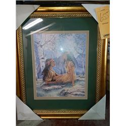 27'' x 34''  ROMANTIC FRAMED COUPLE RETAIL $129.00