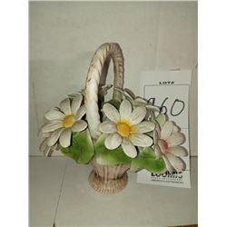 CAPODIMONTE FLOWER BASKET  RETAIL $189.00