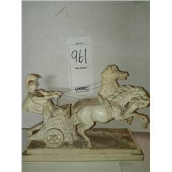 A.SANTINI / ALABASTER LARGE ROMAN CHARIOT RETAIL $399.00
