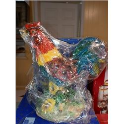 RESIN COUNTRY ROOSTER HAND PAINTED RETAIL $19.99