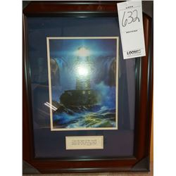 23'' x 29'' CHRISTIAN VERSE LIGHTHOUSE WITH WOOD FRAMED RETAIL $89.00
