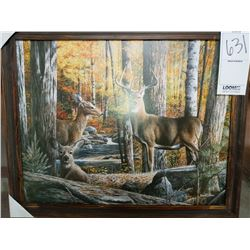 RUSTIC WOOD FRAME WHITETAIL DEER RETAIL $79.00
