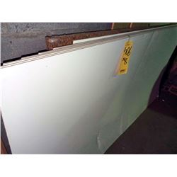 NEW, 4' X 8' WHITE DOUBLE SIDED FIBER BOARD / RETAIL $29.00