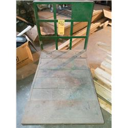 STEEL AND WOOD WAREHOUSE CART, GOOD CONDITION