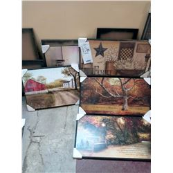LARGE WALL WOOD WALL ART / RETAIL $29.00 EACH