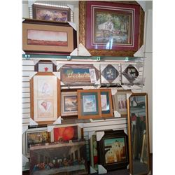 ASSORT FRAMED SHOW ROOM ART ASSORT SIZES RETAIL $139.00 EACH