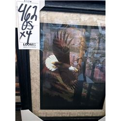 28'' x 24'' HIGH END TRIPLE MAT LICENSED BIRD EAGLE PRINT IN WOOD / GLASS RETAIL $199.00