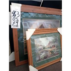 33'' x 27'' FARM & JOHN DEERE WOOD/GLASS MAT ART RETAIL $ 89.00