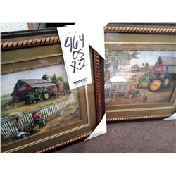 FANCY FRAME & JOHN DEERE FRAMES ART WITH TRIPLE MAT