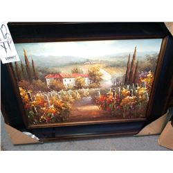 48'' x 33'' EURO SCENES IN WIDE FRAME RETAIL $399.00