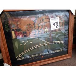 40'' LIBERTY FARM FRAMED ART WOOD GLASS