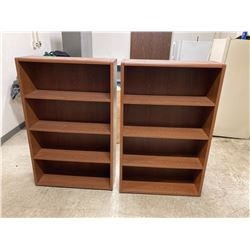(2) Wood Shelving Units