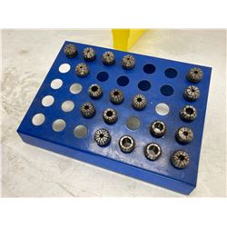 Lot of (19) ER25 Collet with Stand