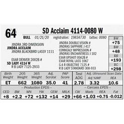 SD Acclaim 4114-0080 W