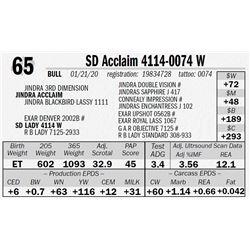 SD Acclaim 4114-0074 W