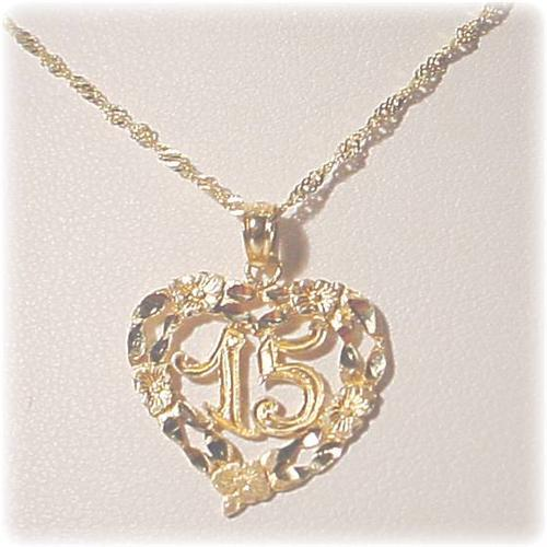 42b2c6c54 Image 1   Quinceanera Necklace 14K GOLD Gold 15 Anos Collar
