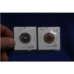 Canada Twenty-five Cent Coins (2) - 2015