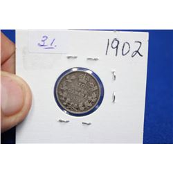 Canada Ten Cent Coin (1) - 1902; Silver