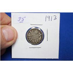 Canada Ten Cent Coin (1) - 1913; Silver