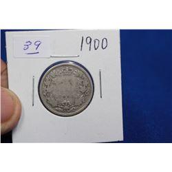 Canada Twenty-five Cent Coin (1) - 1900; Silver