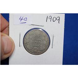 Canada Twenty-five Cent Coin (1) - 1909; Silver