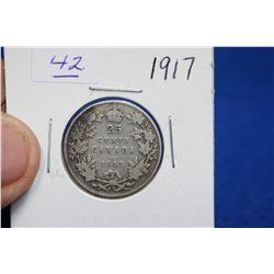 Canada Twenty-five Cent Coin (1) - 1917; Silver