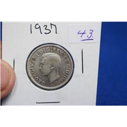Canada Twenty-five Cent Coin (1) - 1937; Silver
