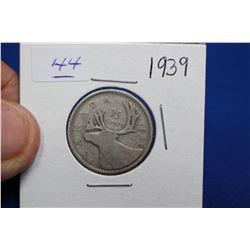 Canada Twenty-five Cent Coin (1) - 1939; Silver