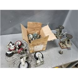 LOT OF MISC WHEEL CASTERS & FEET *SEE PICS FOR DETAILS*