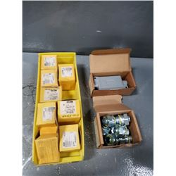 LOT OF MISC HUBBEL ELECTRICAL PARTS *SEE PICS FOR DETAILS*