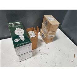 LOT FO MISC LIGHT BULBS & ENCLOSURES *SEE PICS FOR DETAILS*