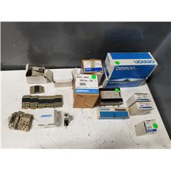 LOT OF MISC OMRON PARTS *SEE PICS FOR DETAILS*