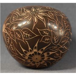 SANTA CLARA INDIAN POTTERY SEED JAR (CHRISTINE NIETO)