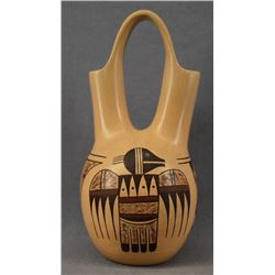 HOPI INDIAN POTTERY WEDDING VASE ( CARLA NAMPEYO)