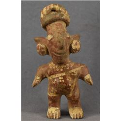 PRE-COLUMBIAN POTTERY MALE FIGURE