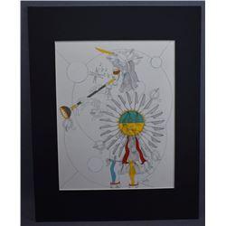 LAGUNA/ACOMA INDIAN PAINTING (MICHAEL BEAR)