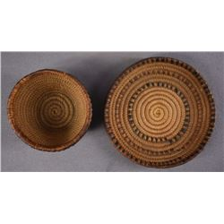THOMPSON RIVER INDIAN BASKETRY CUP AND SAUCER