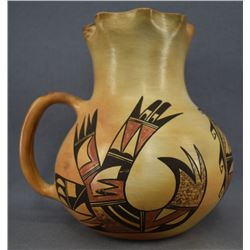 HOPI INDIAN POTTERY PITCHER (STELLA HUMA)