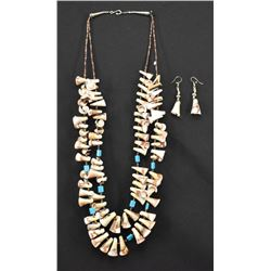 SANTO DOMINGO INDIAN NECKLACE AND EARRINGS
