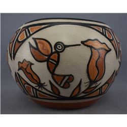 SANTO DOMINGO/ NAVAJO INDIAN POTTERY BOWL (BILLY VEALE & ROSE PACHECO)